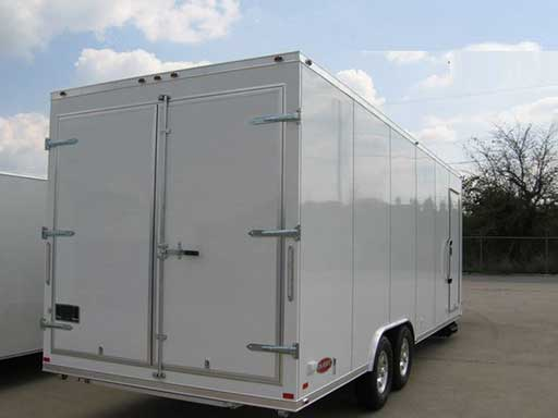 Double Rear Doors, Custom Trailer Options