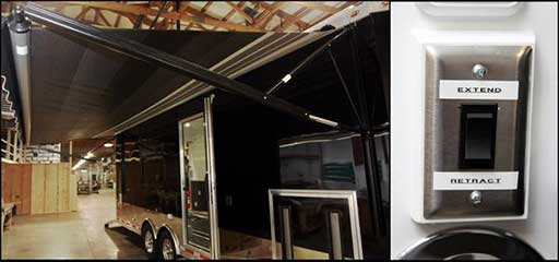12 Volt Awning, Custom Trailer Options