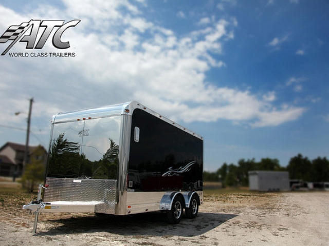 Custom Trailers, Car Hauler, Sport, Motorcycle, 14 ft Aluminum