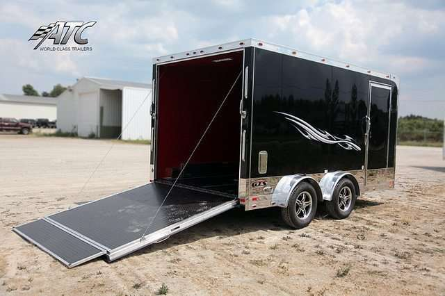 14 ft Aluminum Motorcycle Trailer