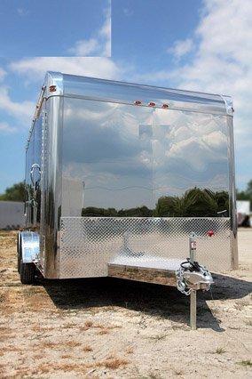 Custom Trailers, Car Hauler, Sport, Motorcycle, 14 ft Aluminum