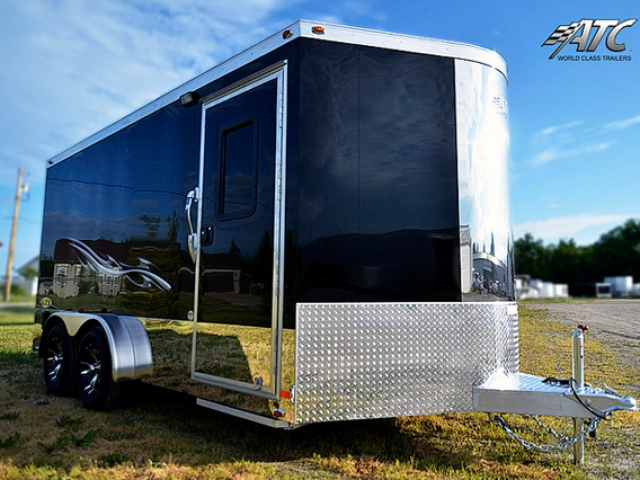 Custom Trailes, Car Hauler, Sport, Motorcycle, 16 ft, Black, Aluminum