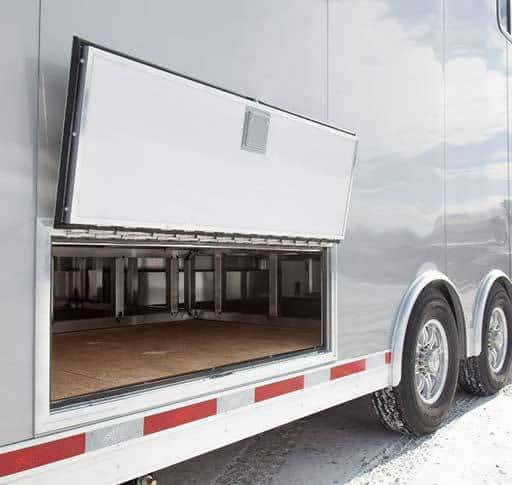 Subfloor Storage Compartment, Exterior, Custom Trailer Options