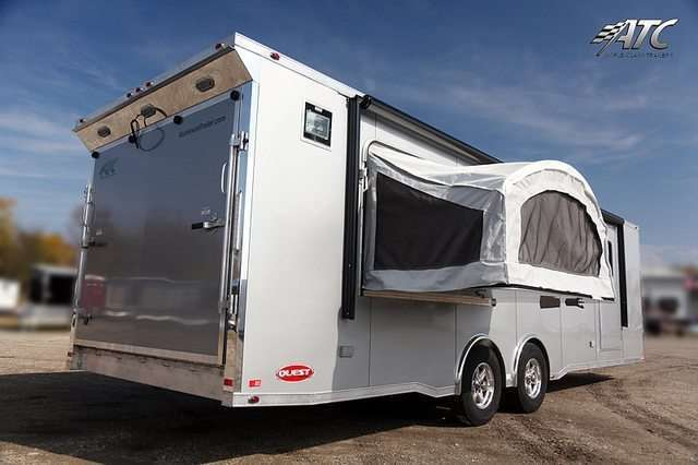 28' ATC CH405 Car Hauler with Bed Door