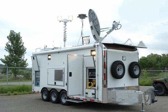National Guard Communications Trailer