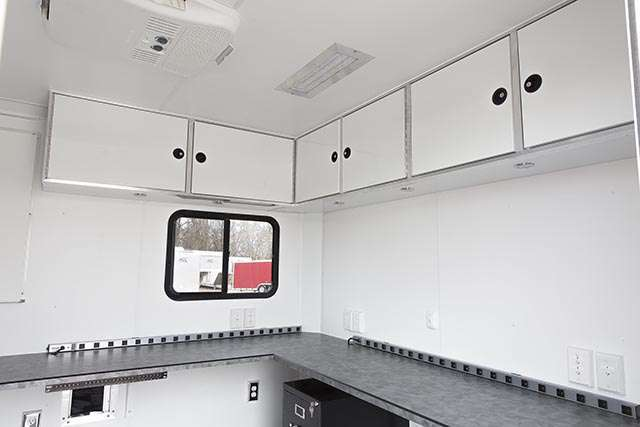 8.5x18 VA Mobile Communications Office Trailer