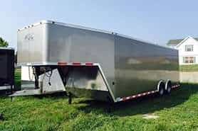 32' Enclosed Gooseneck Trailers Tapered Nose