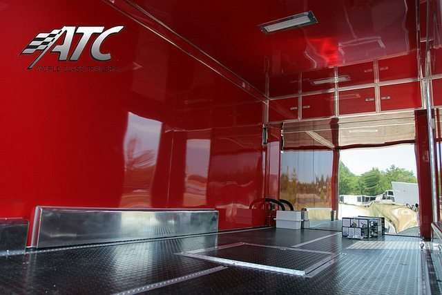 Red Interior ATC Motorcycle Trailer