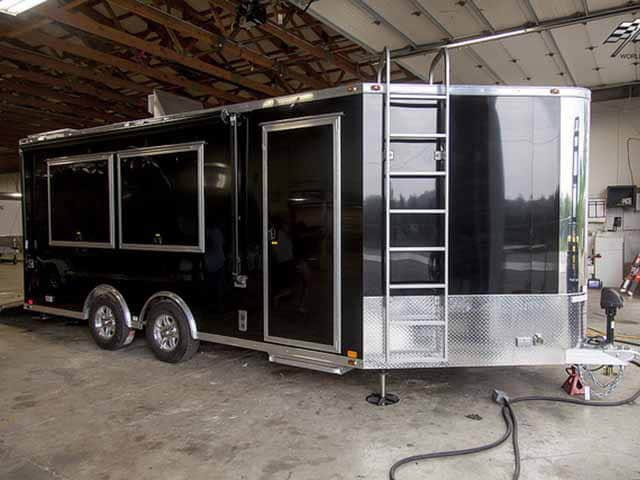 Custom Electronics Cargo Trailer