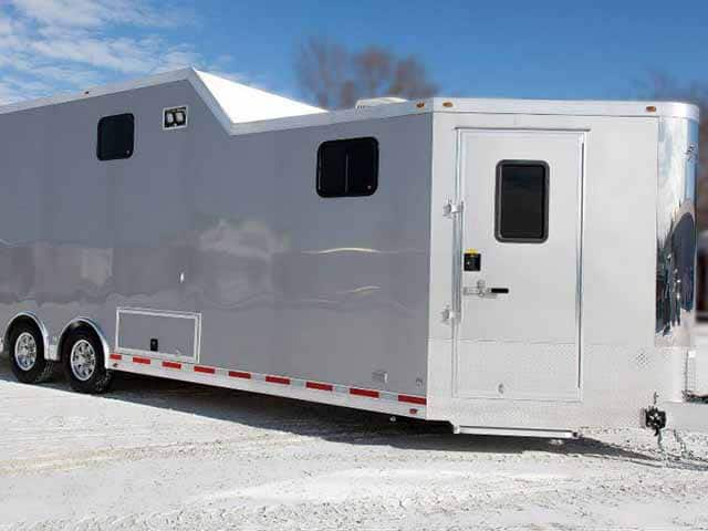 Custom Mobile Signage Trailer with Storage