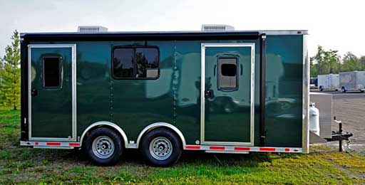 Cargo Green Trailer Color, Custom Trailer Options