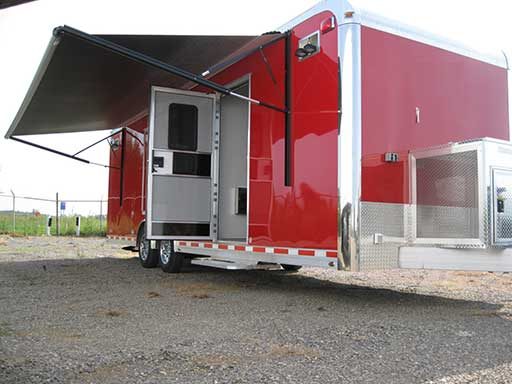 Red Trailer Color, Custom Trailer Options