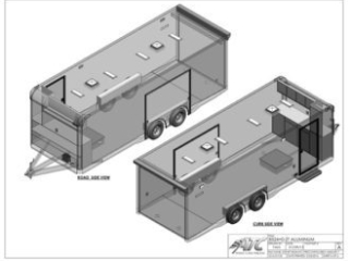 24 ft Trailer, ATC Trailer, CH405, Aluminum Trailer, Enclosed Car Hauler, MO Great Dane, ATC