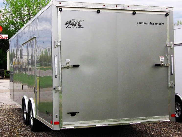 8.5x24 ATC Raven Aluminum Frame Car Hauler Trailer - Premium Escape Door - CHOOSE YOUR COLOR!
