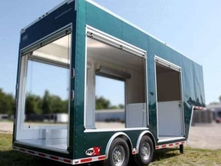 Emerald Green Gooseneck Trailer