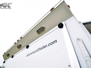 Custom, Trailer, Car Hauler, Sport, Bumper Pull Race Trailers,  28ft ATC Trailers CH305, with 6ft V-Nose