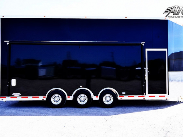 Custom Trailers, Car Hauler, Sport, Stracker, 28ft Orange V-Nose
