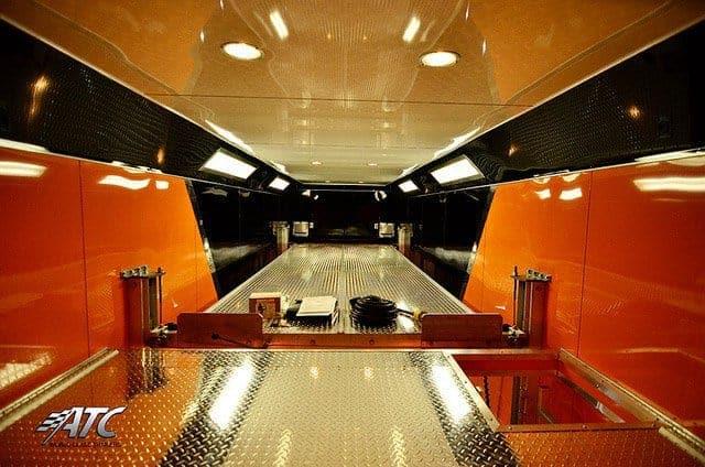 Custom Trailers, Car Hauler, Sport, Stracker, 28ft Orange V-Nose