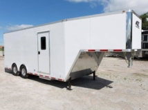 28ft, Aluminum Trailer, Enclosed Gooseneck Trailer, Custom Trailer, MO Great Dane