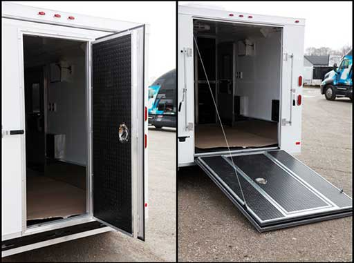 Ramp Door Entry Door Combo, Custom Trailer Options