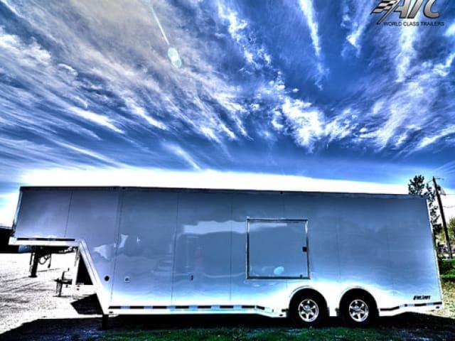 Custom Trailers, Car Hauler, Sport, Gooseneck Race, 32 ft ATC Quest