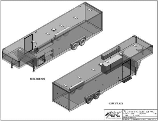 Custom Trailer, Car Hauler, Sport, Gooseneck Race, 40ft ATC Factory Stock Gooseneck
