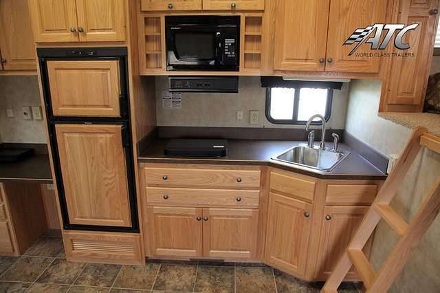 40 ft Beige Race Trailer with Living Quarters