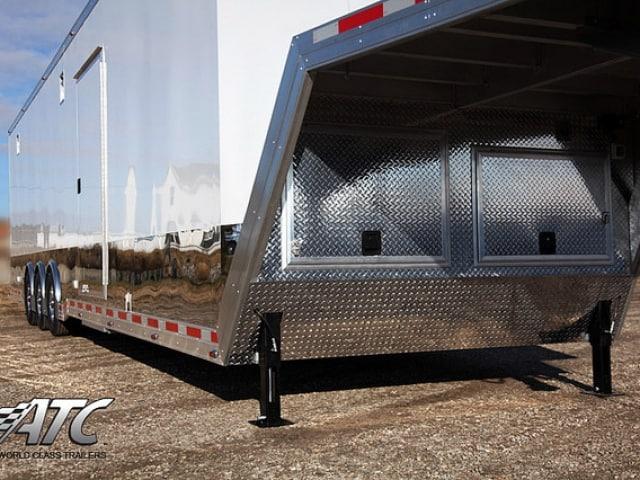 Custom Trailer ,Car Hauler, Sport, Gooseneck Race, 44ft Aluminum Quest