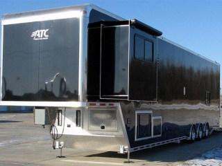 Custom Trailers, Car Hauler, Sport, Race Trailers with Living Quarters, 46 ft Black