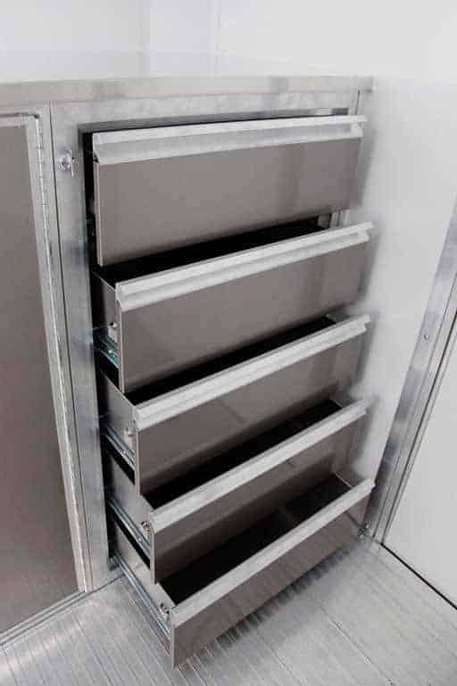 5 Drawer Cabinet, Storage, Custom Trailer Options
