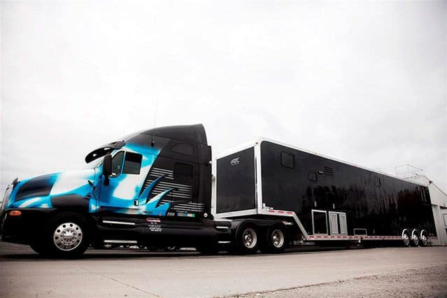 Custom Trailers ,Car Hauler, Sport, Race, with Living Quarters, ,53 ft Black