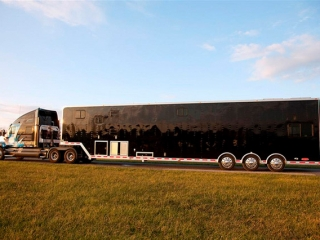 Custom Trailers ,Car Hauler, Sport, Race, with Living Quarters, ,53 ft Black