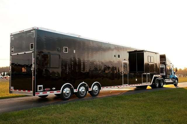 53 ft Race Car Semi Trailer Living Quarters