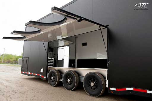 Premium Escape Door Removable Fender, Custom Trailer Options