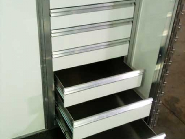 7 Drawer Cabinet, Storage, Custom Trailer Options