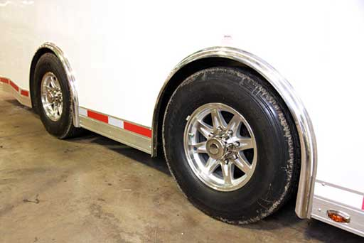 72 Inch Super Spread Axles, Tires, Custom Trailer Options