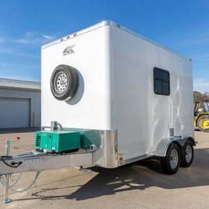 IN-STOCK - 7x12 Aluminum Frame Fiber Optic  Splicing Trailer