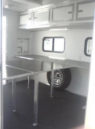 Custom Trailers, Fiber Optic, 7ft, 12ft, Single, Axle, Cable, Island