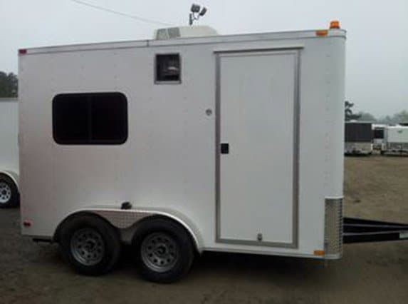 7x12 Steel Fiber Optic Trailer