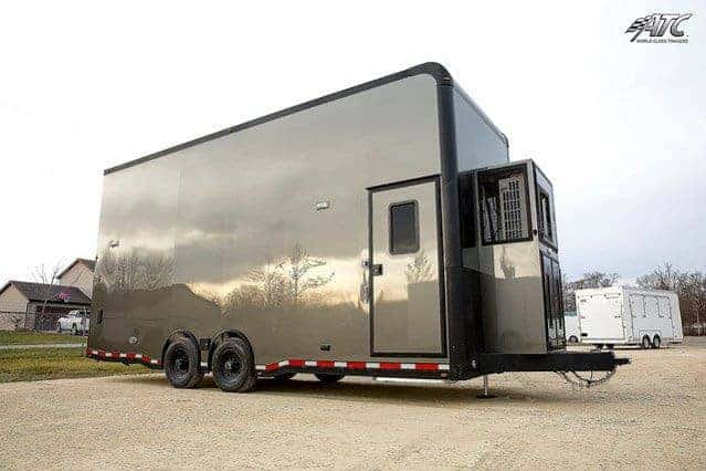 8 5x24 Atc Stacker Trailer St305 Car Hauler Mo Great