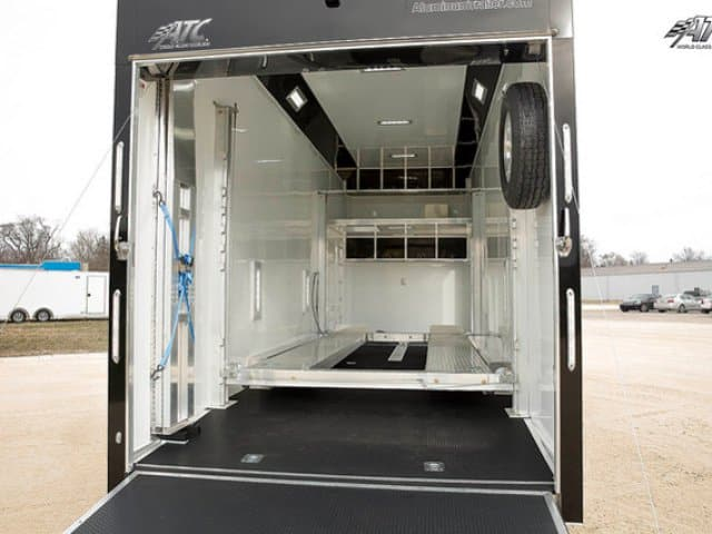 8.5 x 28 ATC Aluminum Stacker Race Trailer