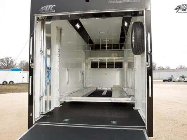 8.5 x 28 ATC Aluminum Stacker Race Trailer