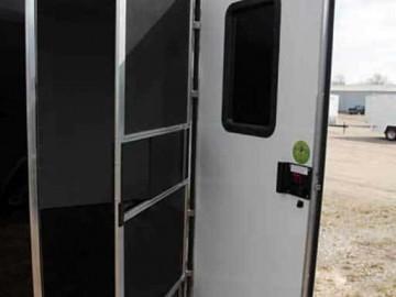 RV Door Screen Window, Custom Trailer Options