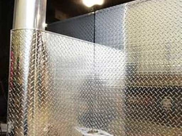 Aluminum Tread Plate Stone Guard, 48 inch, Exterior, Custom Trailer Options