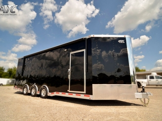 Custom Trailers ,Car Hauler,Sport, Bumper Pull Race, ATC Aluminum, V-nose Race