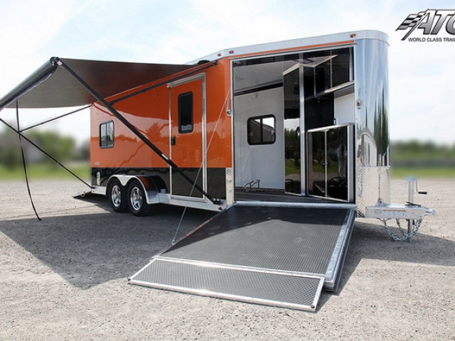 Custom Trailers, Car Hauler, Sport, Motocycle, ATC, Black, Orange