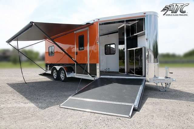 ATC Black and Orange Motorcycle Trailer