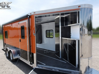 Custom Trailers, Car Hauler, Sport, Motocycle, ATC, Black, Orange