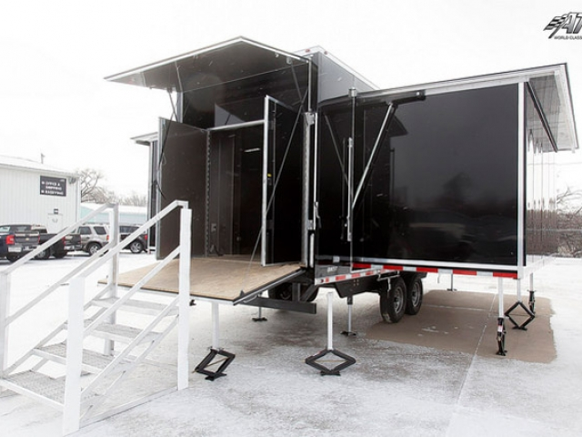 Custom Trailers, Mobile Marketing, ATC, Fold Out, Extension, Room