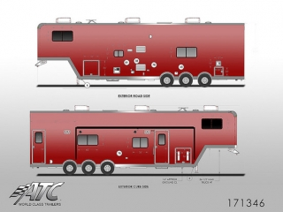 ATC Stacker Trailer with Living Quarters